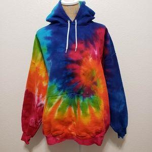 fd2e6bec18d55 Hanes Tie Dye Hoodie Sweatshirt Unisex Adult XL